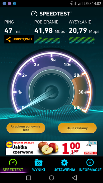 LTE w Orange na Huawei P6 Lite (Android 6.0)